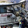 At least 13 dead, 31 injured in tour bus crash in Southern California