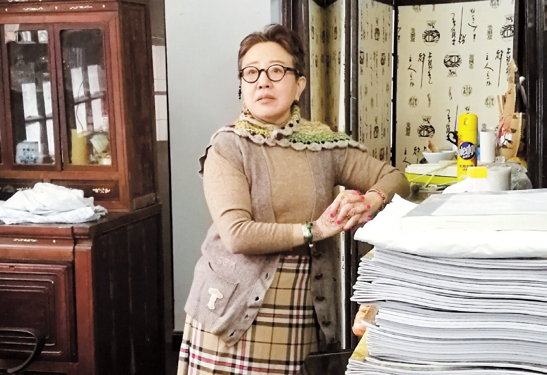 Cheng Shaochan, a local historian and columnist, at her home in Jing Yun Li
