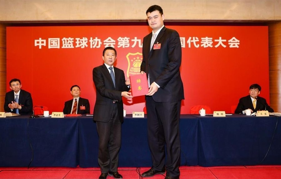 Yao Ming elected president of Chinese Basketball Association