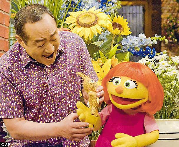 Julia, a new autistic muppet character, will debut on April 10.