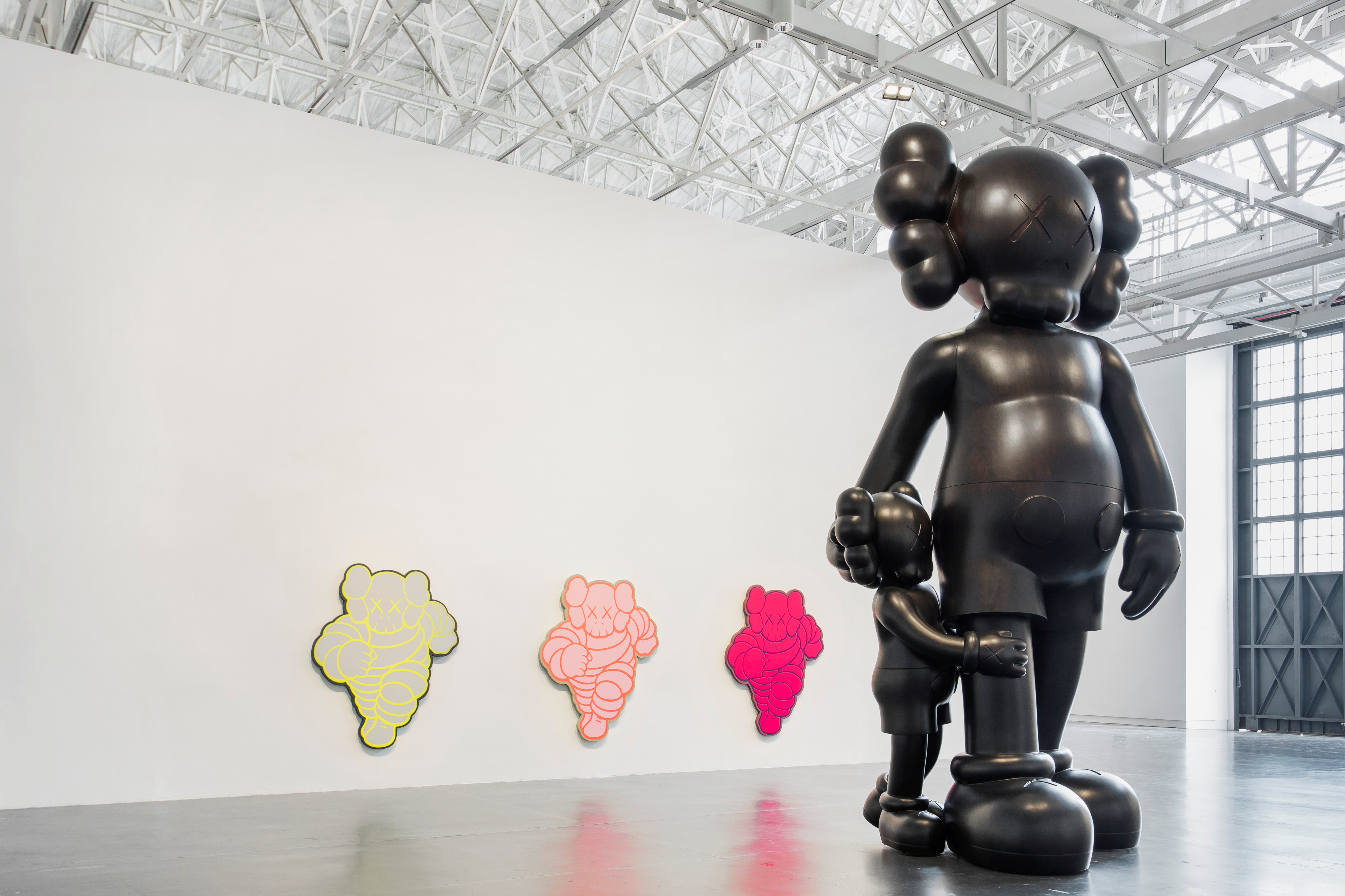 "Installation work of KAWS iconic ""companion"" series, inspired by Mickey Mouse, is displayed at the Yuz Museum."
