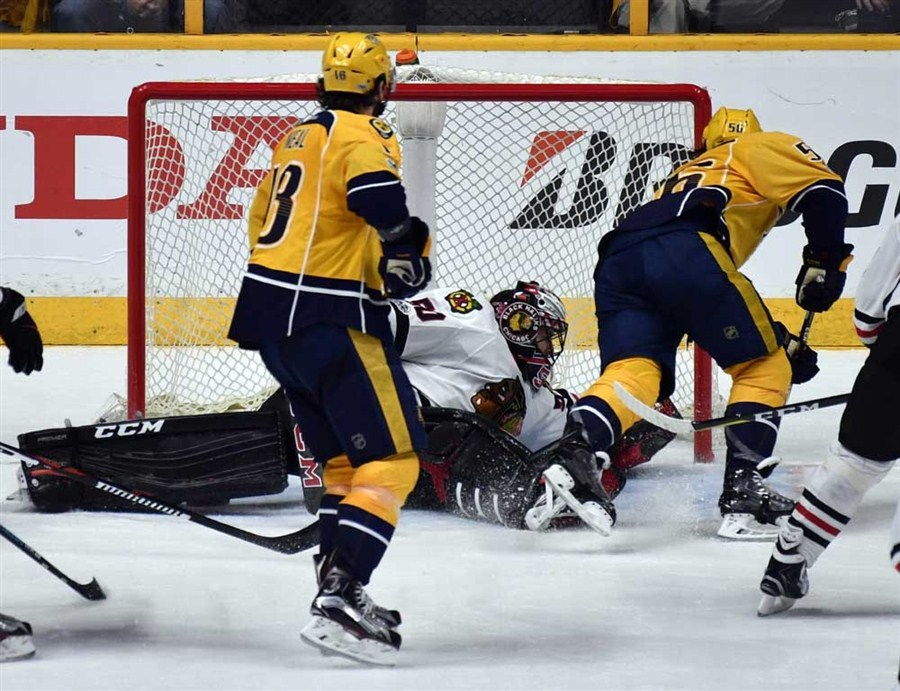 Predators put blackhawks on brink shanghai daily for Motor city ice hawks