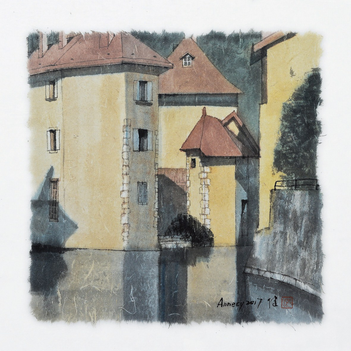 """My Impression of France No. 4"" by Hong Jian"
