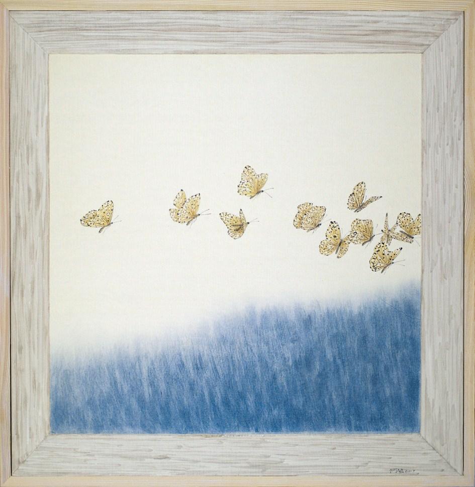 """""""Outside the Window: Sky No. 6"""" by He Xi"""