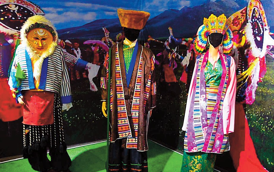Handmade Tibetan costumes involve meticulous and elaborate sewing and embroidering.