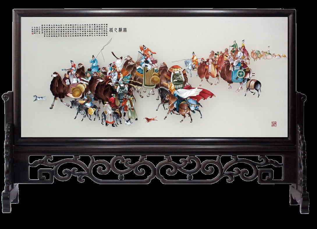 """One of Zhao's representative works — """"The Silk Road"""""""
