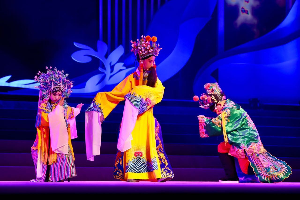 Children perform today at Shanghai Grand Theater during the 7th International Art Festival of Soong Ching Ling School. More than 670 children from over 20 countries and regions participated in the performances.- Dong Jun