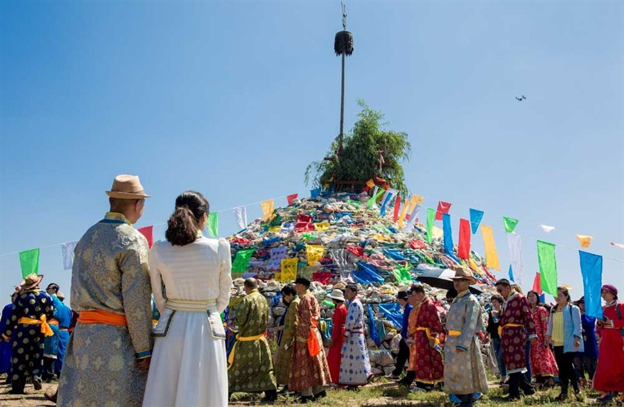 Mongols Celebrate Obo Festival Shanghai Daily
