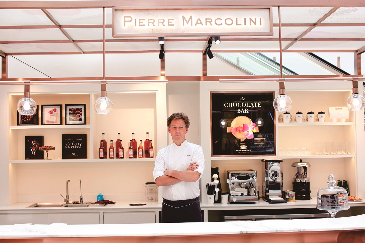 Pierre Marcolini launches his new store at Plaza 66 on June 14.