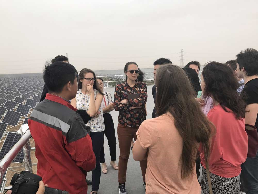 The French young leaders take a field visit at the Ningxia Baofeng Energy Group.