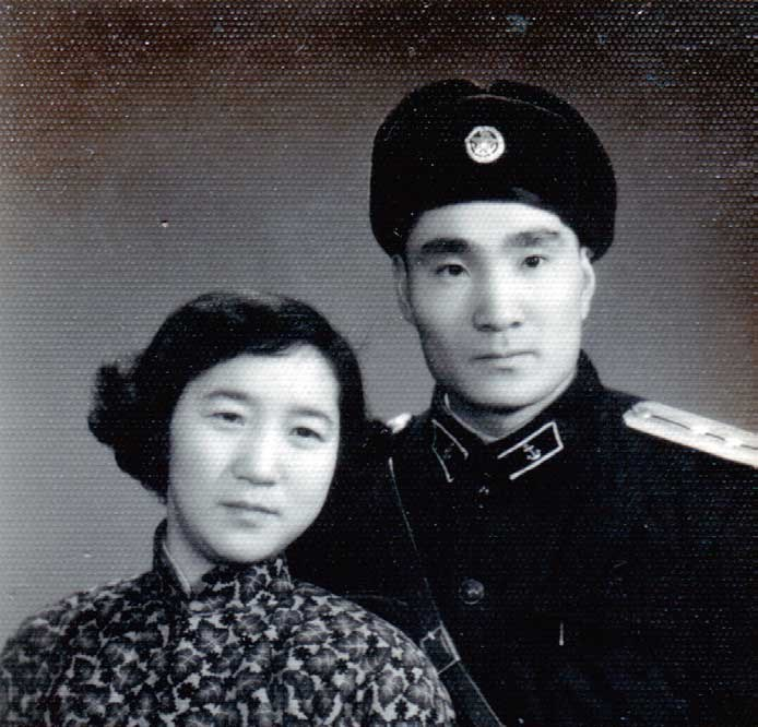 Zhu Yujun and his wife Chen Yongfen in this 1957 file photo