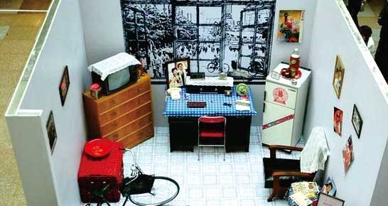 Typical room settings for newlyweds in the 1980s