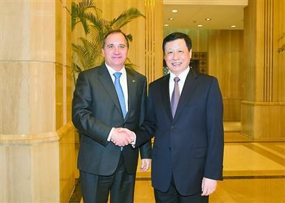 Ying Yong meets Swedish PM Stefan Löfven