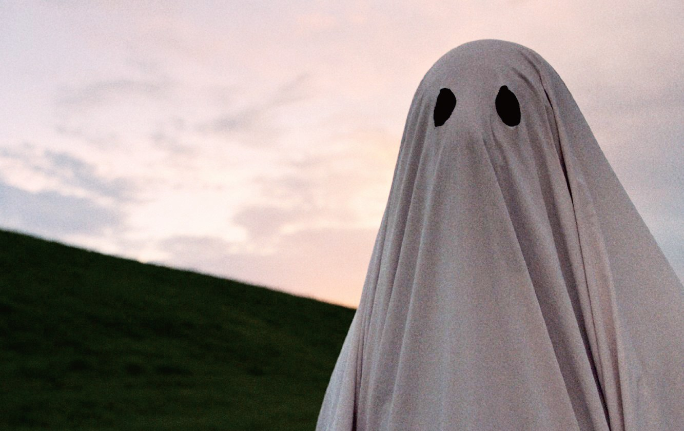 "Actor Casey Affleck plays a ghost with a bedsheet over his head in the film ""A Ghost Story."""