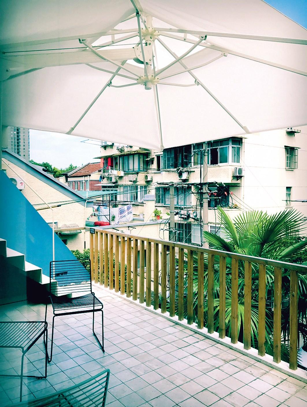 Rooftop terrace at EDM Café