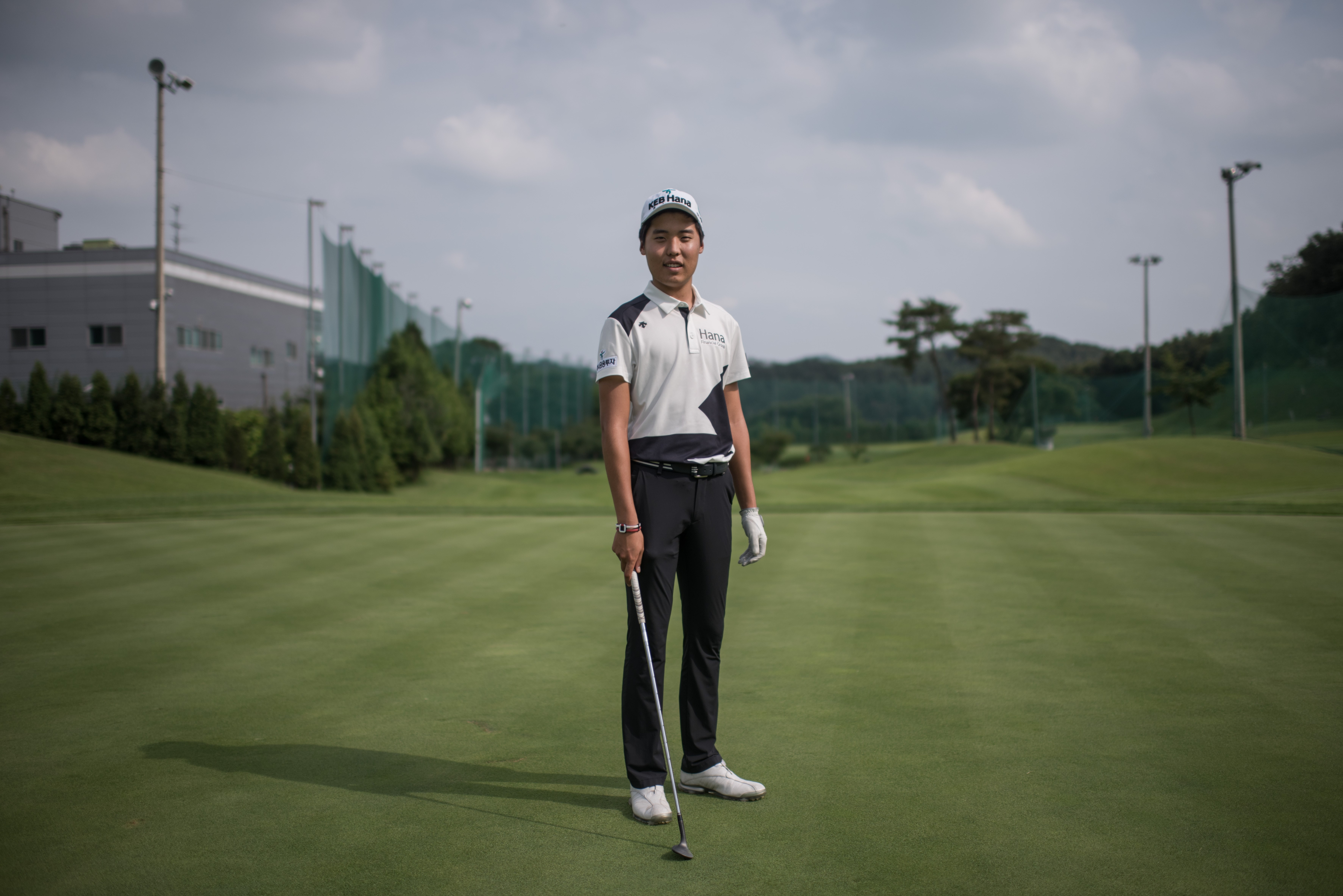 Simon Seungmin Lee poses at a club near Anseong. Six years after taking up golf, and after five failed attempts, Lee secured professional status at a Korea PGA trial in May — one of the few autistic people to do so anywhere in the world. — AFP