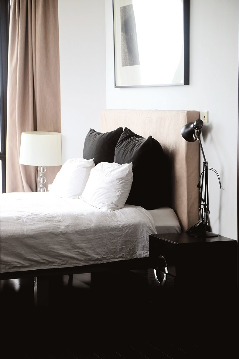 The bedroom is simplistic in its design.