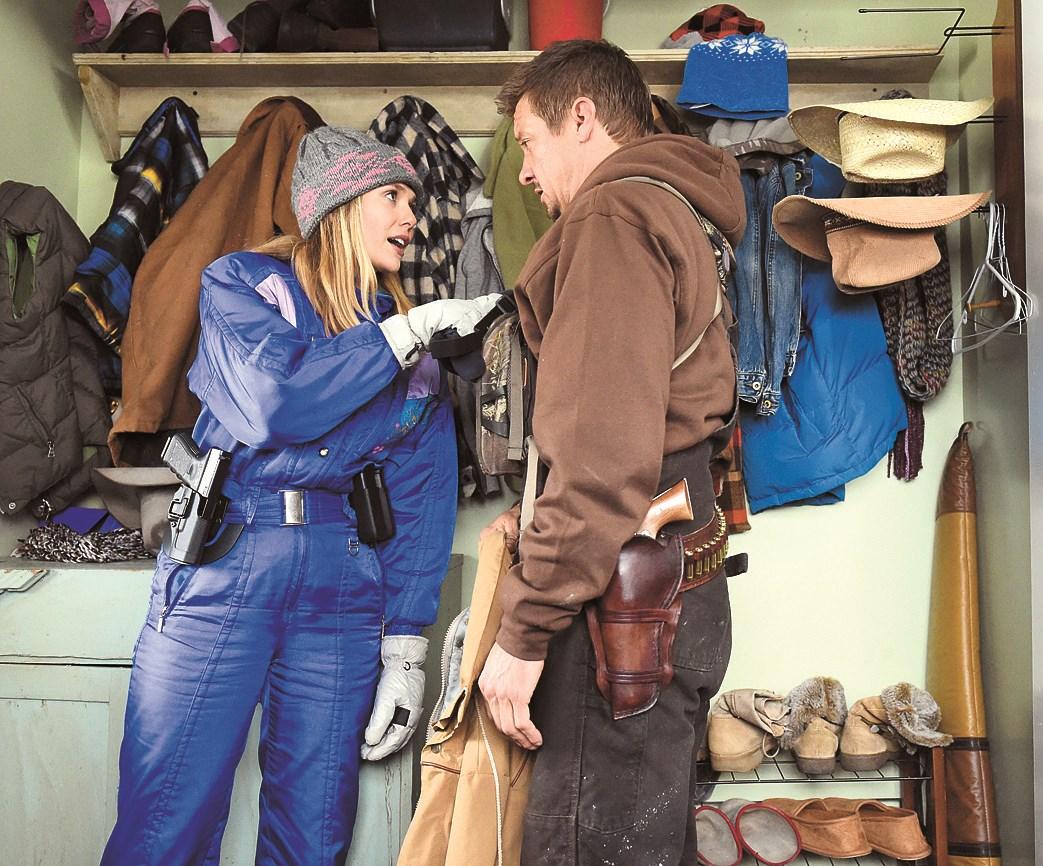 "Elizabeth Olsen as an FBI agent to investigate the murder case in the film ""Wind River."""