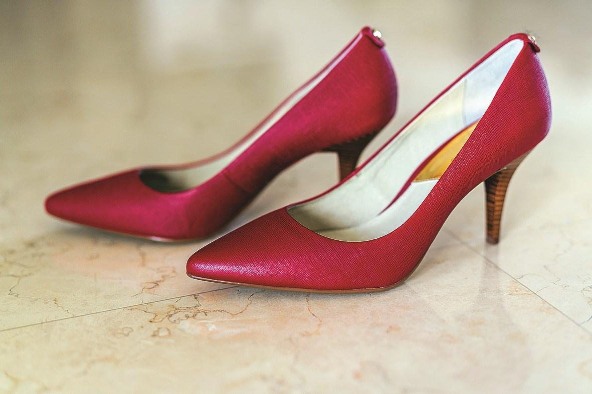 Michael Kors red pumps