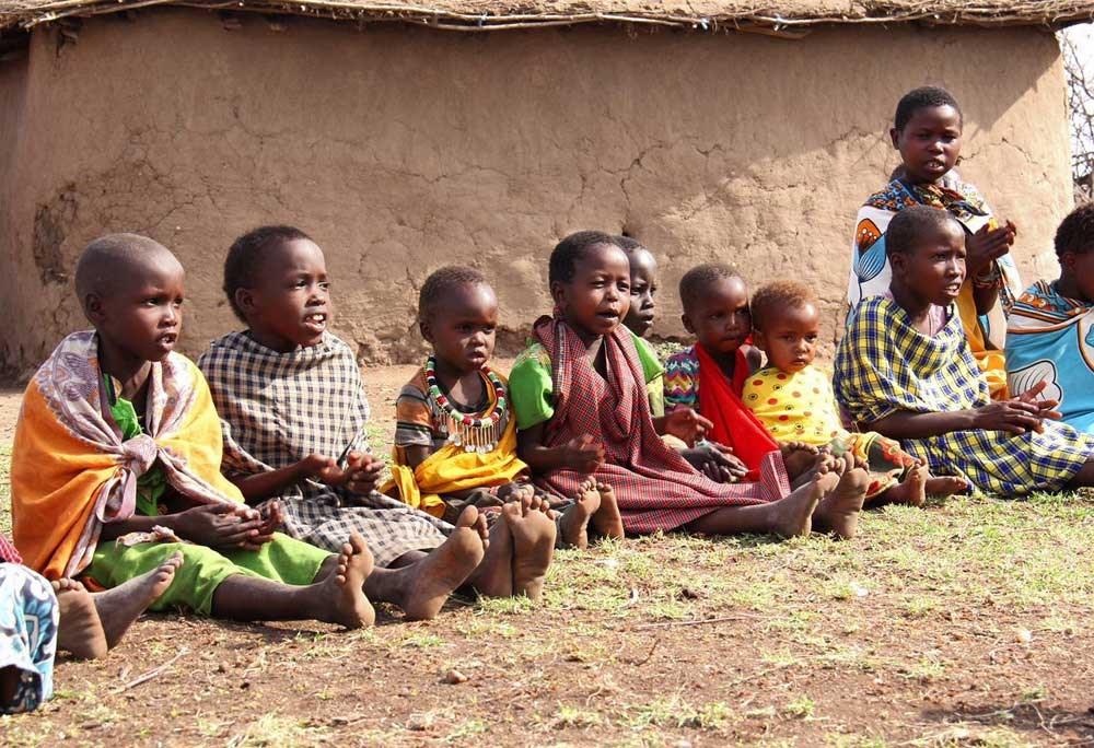 Children playing at Masai Manyatta village, Kenya. Photo by Vivian Jia Ying Huang.