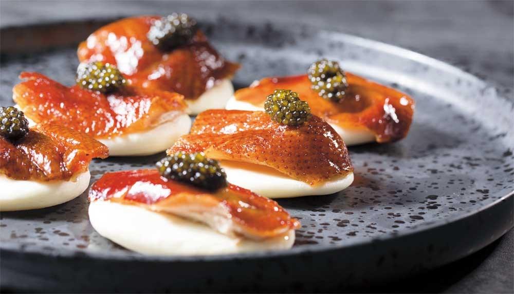 Caviar and crispy duck