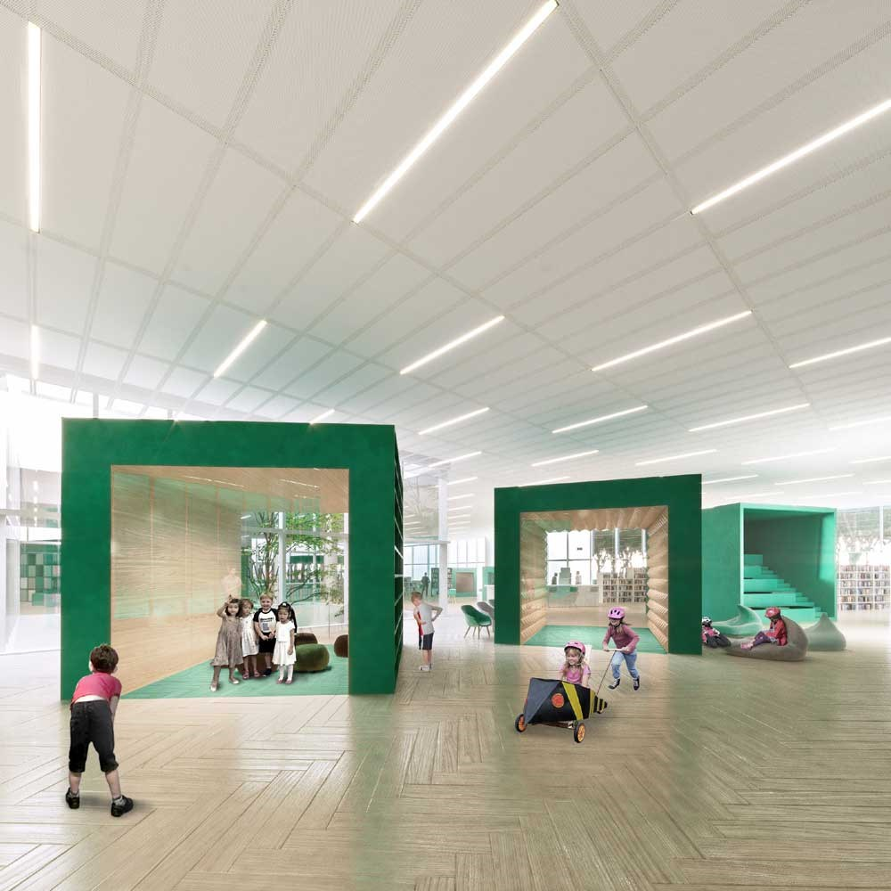 An artist's rendition of children's areain the east branch of Shanghai Library.— Photo courtesy of Shanghai Library