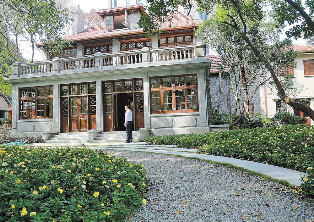 """The decades-old garden villa on 3 Baoqing Road will open to the public on Sunday in its newrole as Shanghai Symphony Museum. The city's """"King of Dye"""" once lived there. — Ti Gong"""