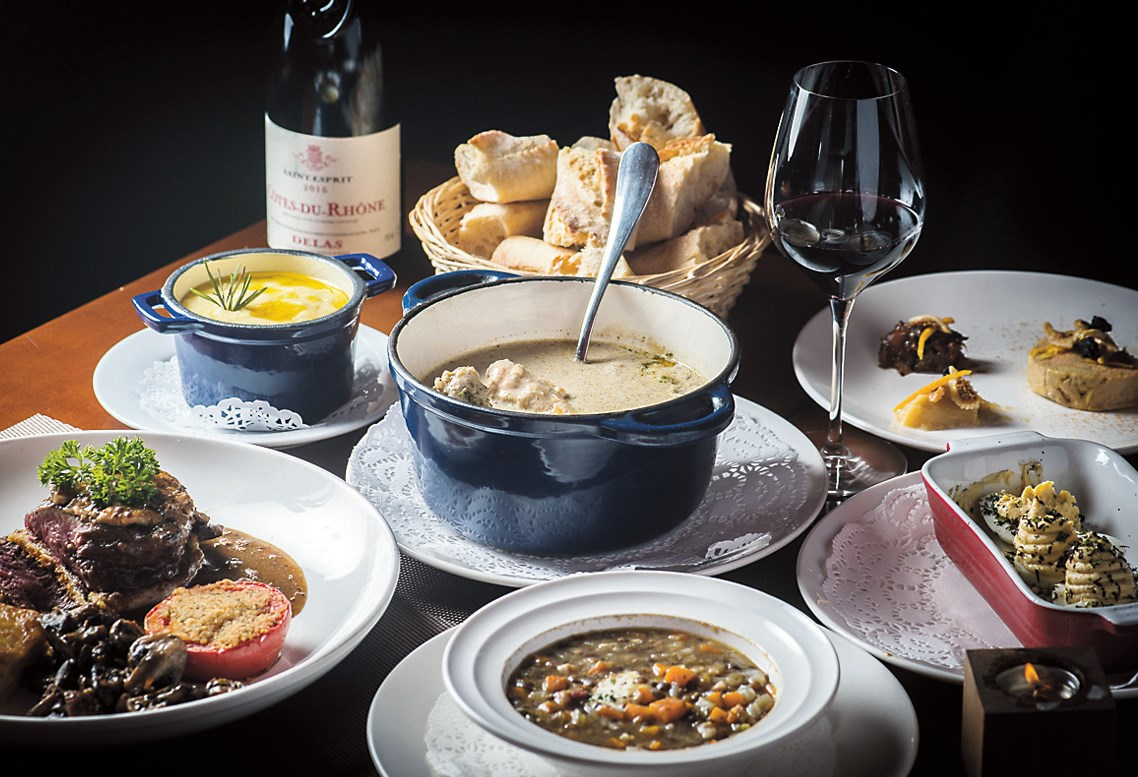 The food at Le Bouchon is rustic and home-style. — Ti Gong