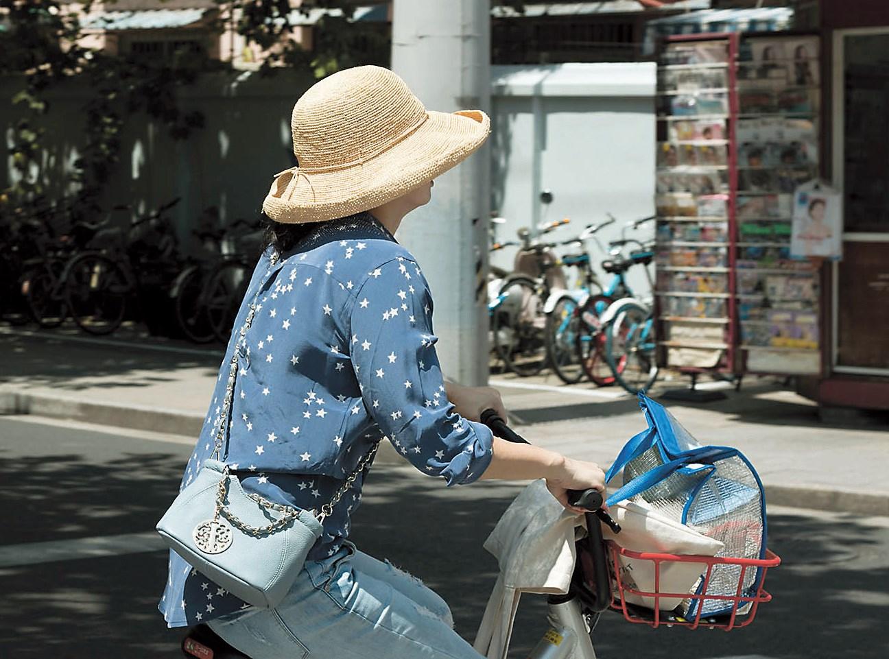 Biking is increasingly becoming a way of life in Shanghai. — Lisa Van der Wath