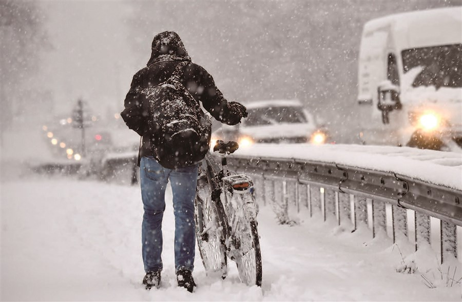 Snow disrupts school, travel in Europe