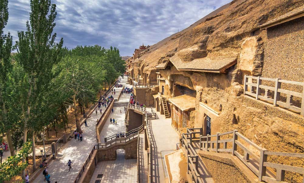 The Mogao grottoes, known as Caves of the Thousand Buddhas, were listed as a UNESCO World Heritage Site in 1987. — Shutterstock